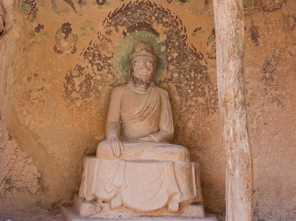 Seated Buddha at Binglingsi (Yellow River, Gansu)